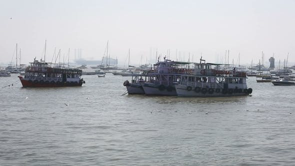 Thumbnail for Tourist And Fisher Boats By The Harbour