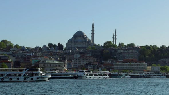 Cover Image for Rustem Pasa Mosque and Pleasure Boats