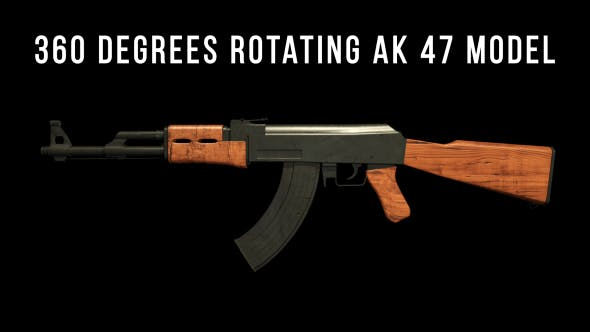 Thumbnail for 360 degrees rotating AK 47