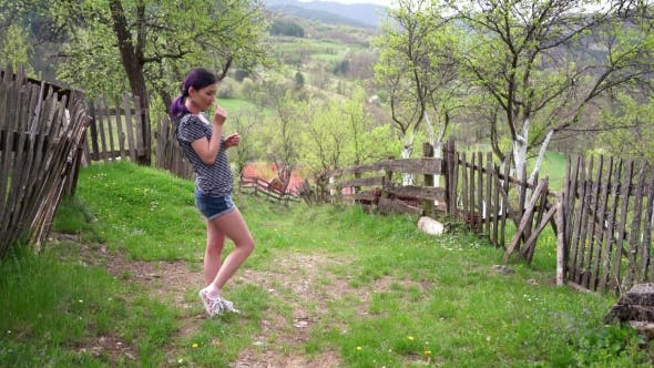 Thumbnail for Girl In a Village Enjoying The Nature
