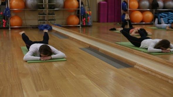 Women Practice Pilates