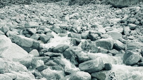 Cover Image for Mounain River Flows On Rocks