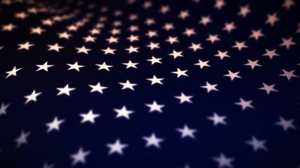 Thumbnail for USA Flag Stars Background