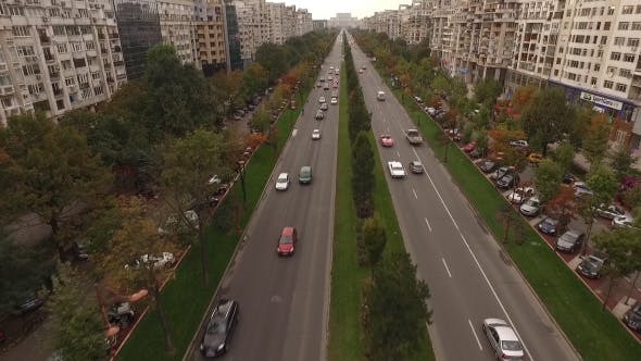 Thumbnail for Large boulevard city traffic 2