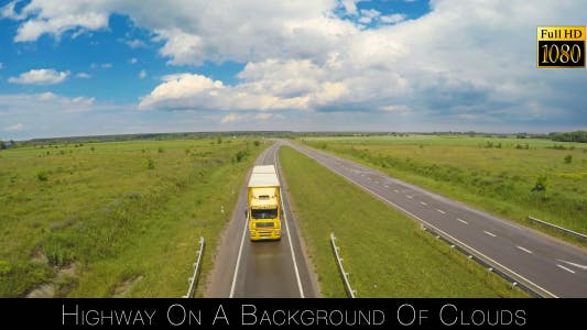 Cover Image for Highway On A Background Of Clouds 3