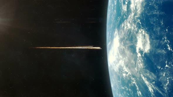 Asteroid Impact on Planet Earth - Orange