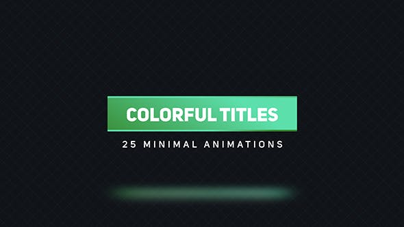 Thumbnail for Titres colorés 2