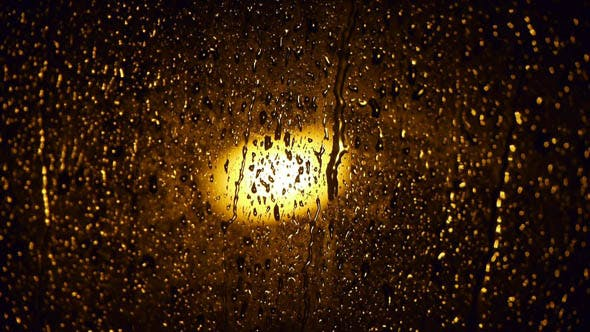 Thumbnail for Raindrops on the Window at Night