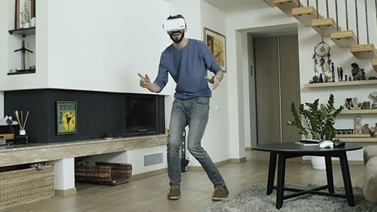 Man Dancing In Virtual Reality