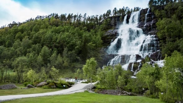 Thumbnail for Tvindefossen Waterfall, Norway