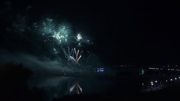 Thumbnail for Fireworks Over The River. Reflection.