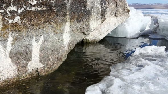 Thumbnail for Melting Ice On Lake In Spring.
