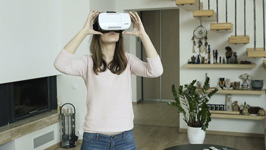 Thumbnail for Woman Working in Virtual Reality