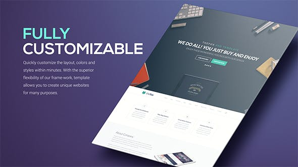 Thumbnail for Simple Website Presentation Pack