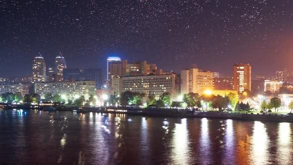Ukraine Dnipro city on Dnipro river
