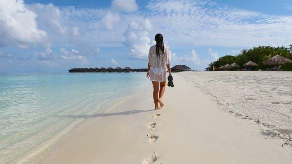 Thumbnail for Young Beautiful Woman Enjoying Beach Tropical Vacation