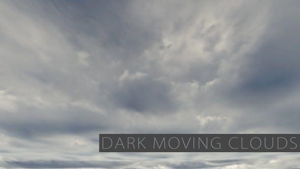 Moving Dark Cumulus Clouds