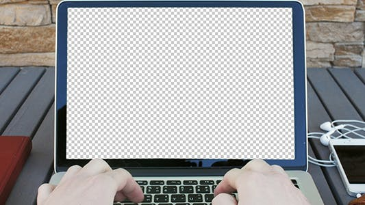 Thumbnail for Typing On a Laptop in The First Person