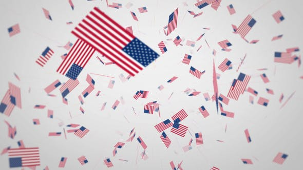 Thumbnail for USA Flag Rolling Background