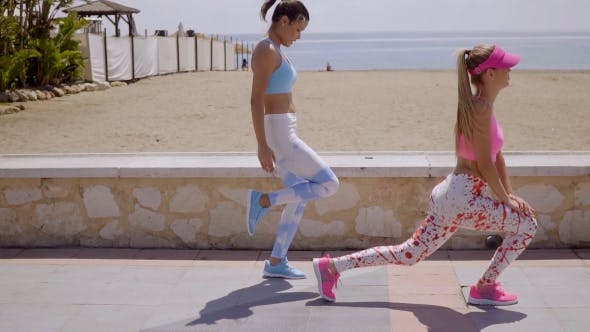 Thumbnail for Two Active Healthy Young Women Working Out