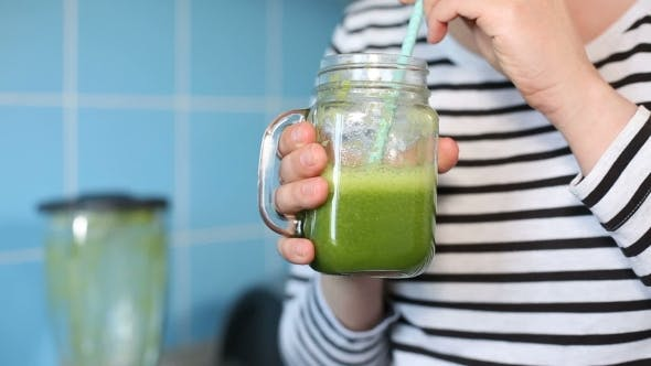 Thumbnail for Female Tasting a Green Smoothie