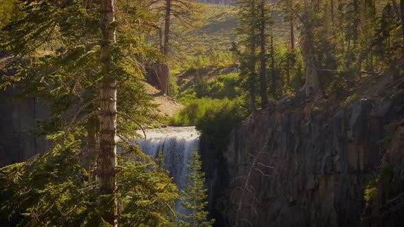Thumbnail for Rainbow Falls in the Ansel Adams Wilderness in California USA