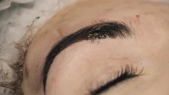 Thumbnail for Beautician, Specialist of Permanent Make-up Making Eyeliner Permanent Make Up