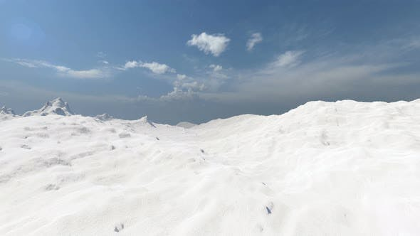 Snow Mountains Real Style Winter Landscape Beautiful View Nature Blue Sky Snowy Landscape