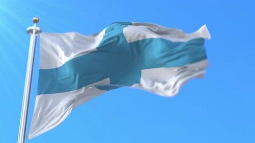 Flag of Marseille, France