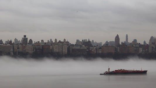 Thumbnail for Fog Ship With Flying Bird