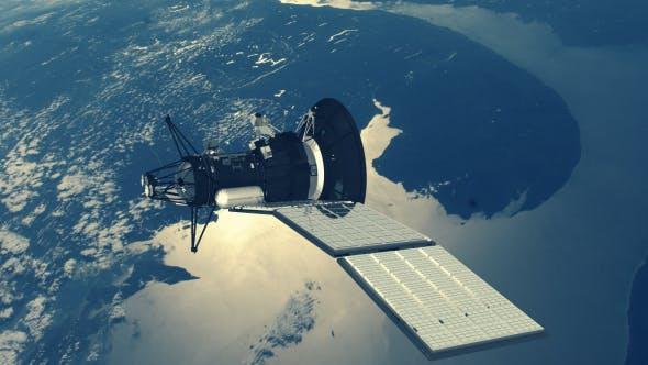 Thumbnail for Satellite over Earth - 2