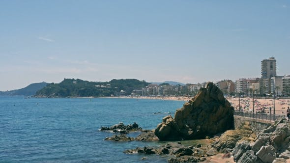 Thumbnail for View Of The Modern Lloret Del Mar From Beach. Catalonia Spain
