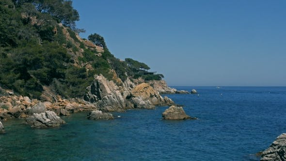 Thumbnail for Sea View Landscape From Top of Island Lloret Del Mar, Spain