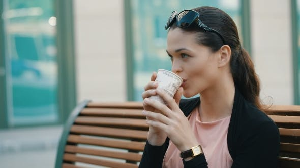 Thumbnail for Businesswoman Drinking Coffee