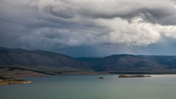 Thumbnail for Stormy Clouds Above a Big Lake