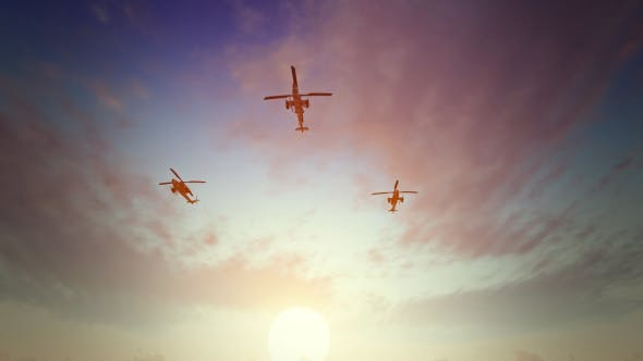 Thumbnail for Helicopters - Sunset