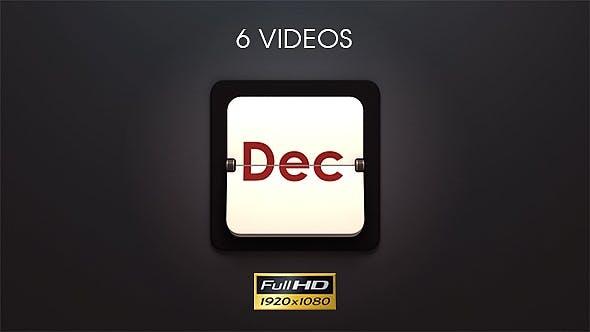 Months Countdown Dark Style - 6 Pack
