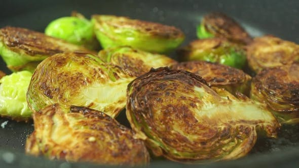 Frying Brussels Sprouts  Shot