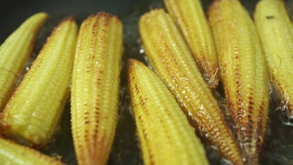 Thumbnail for Roasting Small Corn Cobs