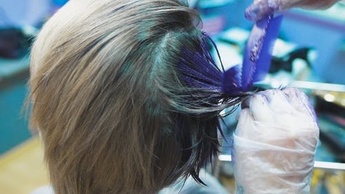 Stylist In a Beauty Studio Does Hair Dye. She Decided To Cardinally Change Its Image