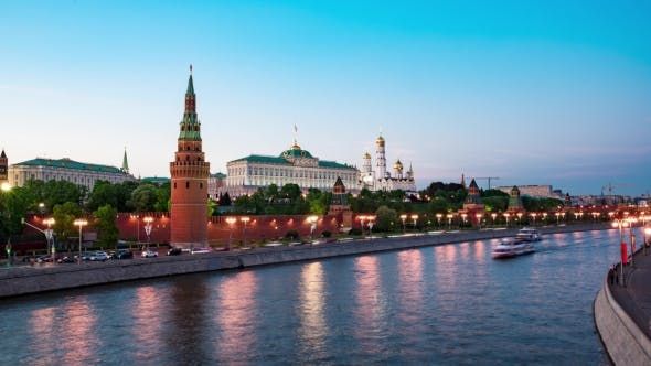 Thumbnail for Moscow, Night View of the Kremlin