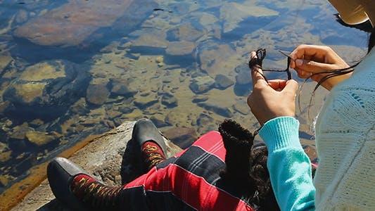 Thumbnail for Knitting Woman and Lake