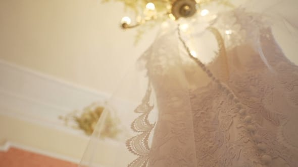 Thumbnail for Wedding Dress Hanging In The Room