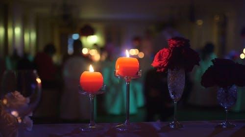 Dinner Romance Blurred Background