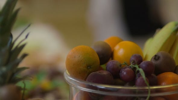 Thumbnail for Beautiful Dynamic View of Healthy Fruits Food