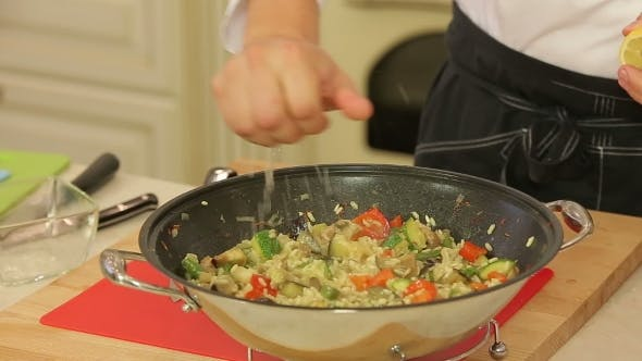 Thumbnail for Asian Stewed Wegetables In a Wok