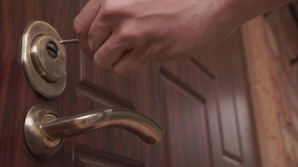 Thumbnail for Door Closing And Opening Lock Over The Handle