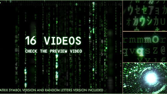 Matrix Symbol and Letters Code