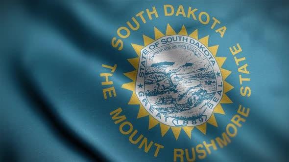 South Dakota State Flag Close Up HD