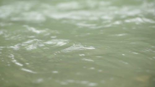 River Flow. Sea Water Flow